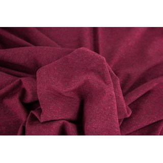 Jenna, Melange-Sweat, bordeaux (1937), gerauht, 280 g/m²