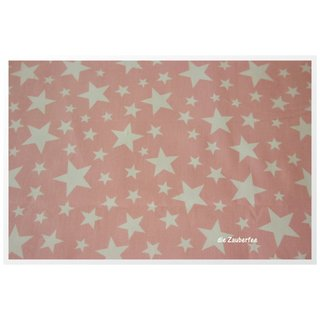 Jeany Stars, rosa, Jeans mit Sternen Hilco A6018/40