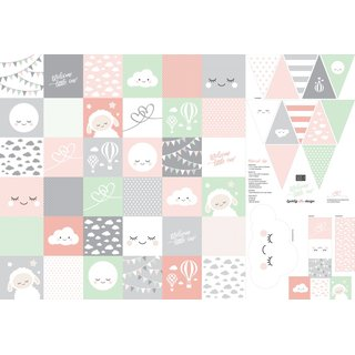 Welcome little one by lycklig design, rosa/grau/koralle,...