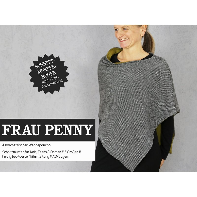 FrauPENNY Wendeponcho, Schnittmuster