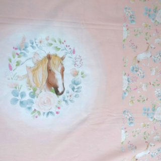 Horse Panel, Stretchjersey, rosa, Hilco, A 3646/36