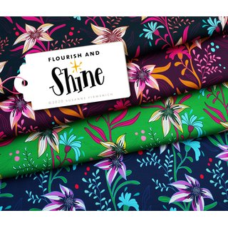 SHINE - Flourish and Shine, Sweat dunkelblau/bunt,...